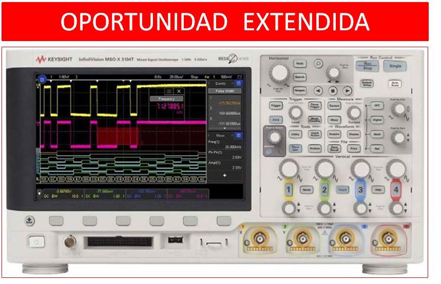 Oportunidad extendida en Osciloscopios InfiniiVision serie X3000T