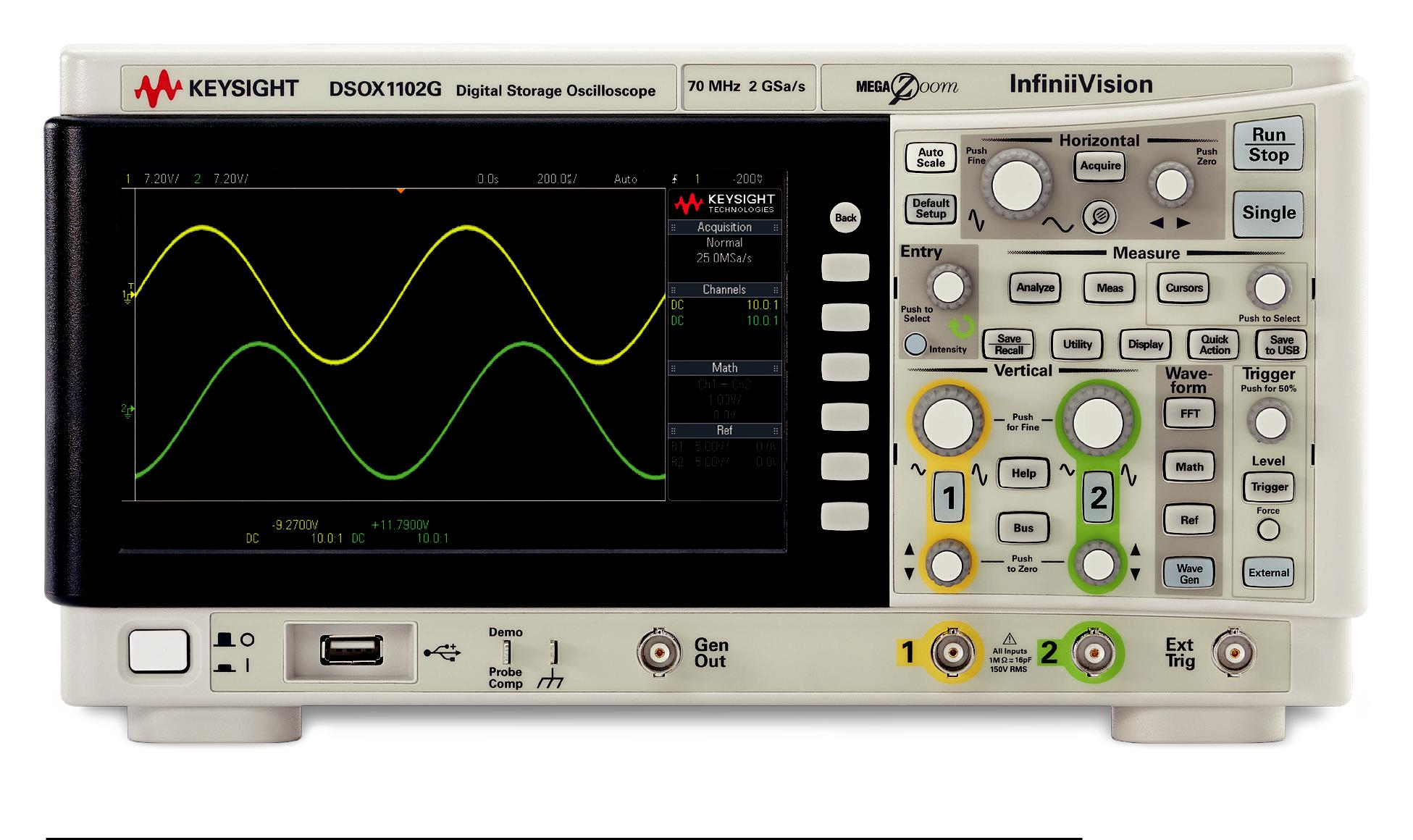 x1000 osciloscopio