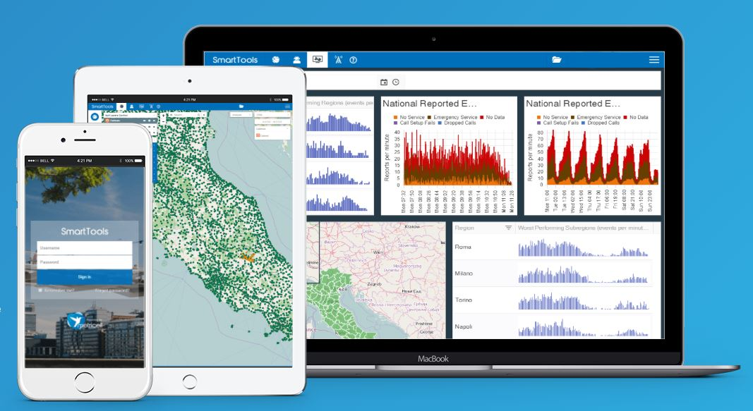 Reach more visualization of the mobile network
