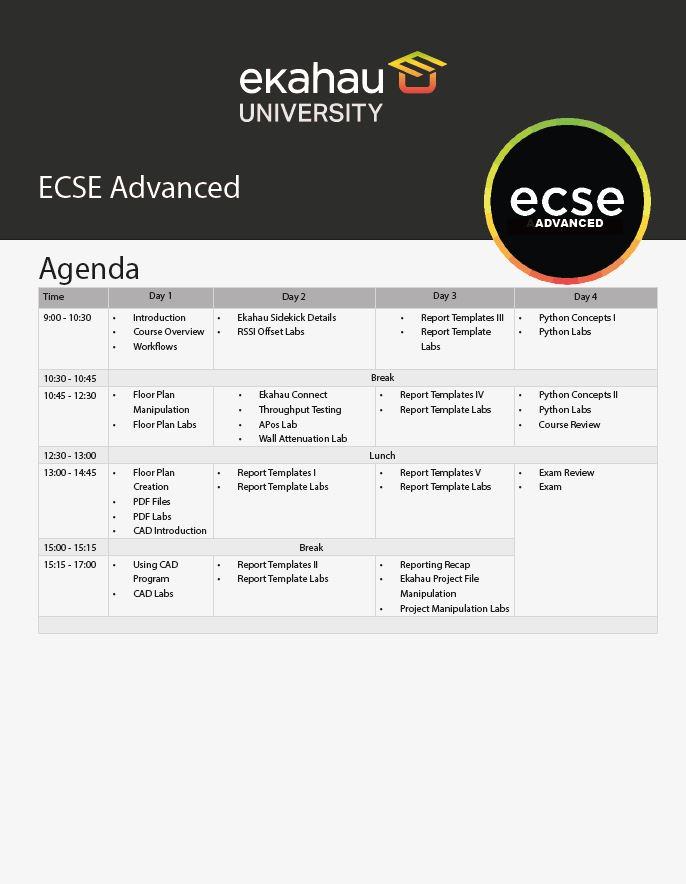 Agenda Advanced 2021